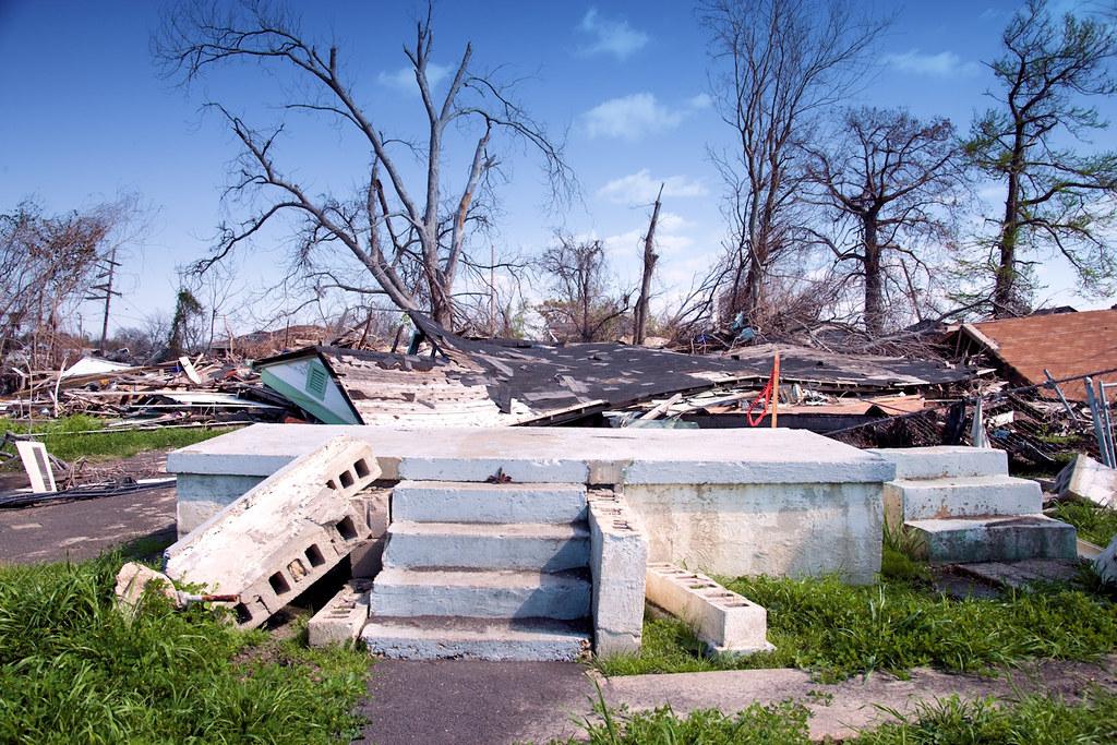 Highsmith, Carol M, photographer. Only steps left after 2005 Hurricane Katrina, Mississippi coast, Mississippi, 2006. March 3.