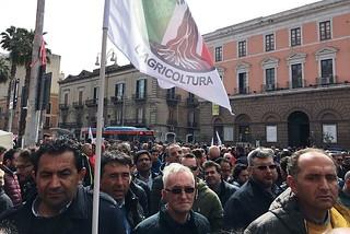 Noicattaro. Protesta agricoltori front