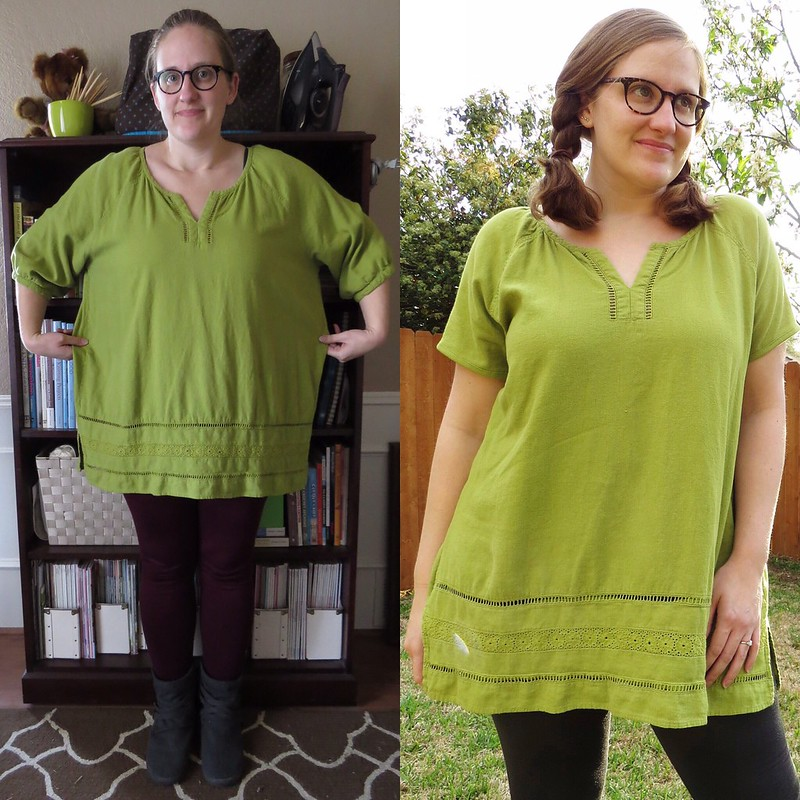 St Patrick's Day Tunic - Before & After