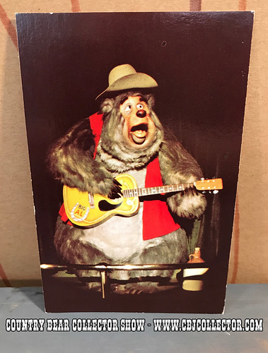 Vintage 1970s Walt Disney World Big Al Postcard - Country Bear Collector Show #094