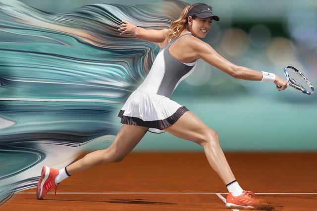 Garbine Muguruza Roland Garros 2017 outfit