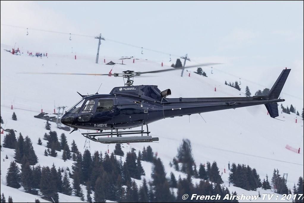 Aérospatiale AS 350B2 Ecureuil - F-HBYE , Hélisecurité , Fly Courchevel 2017 , Hélico 2017