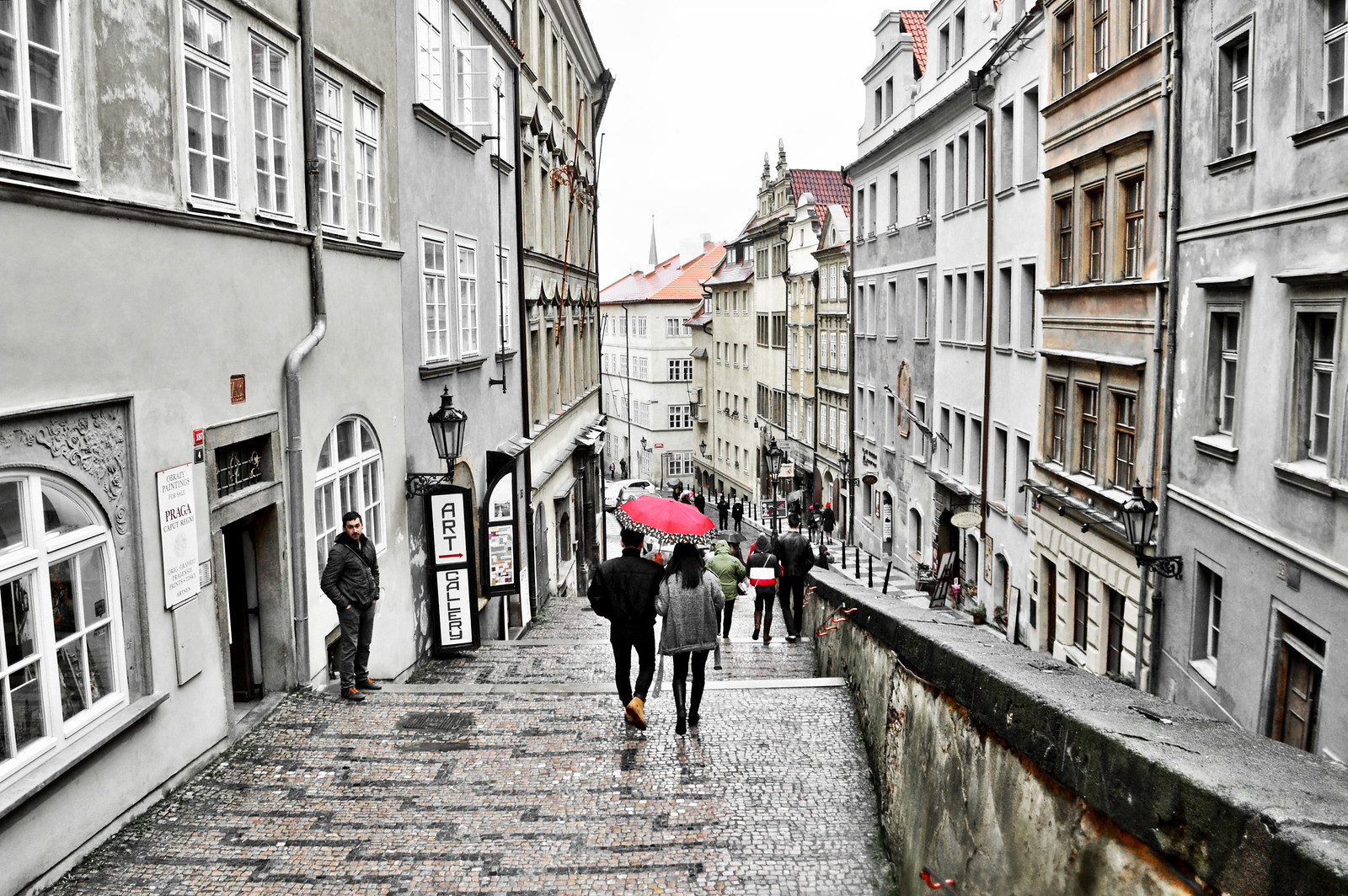 Prague on a rainy day