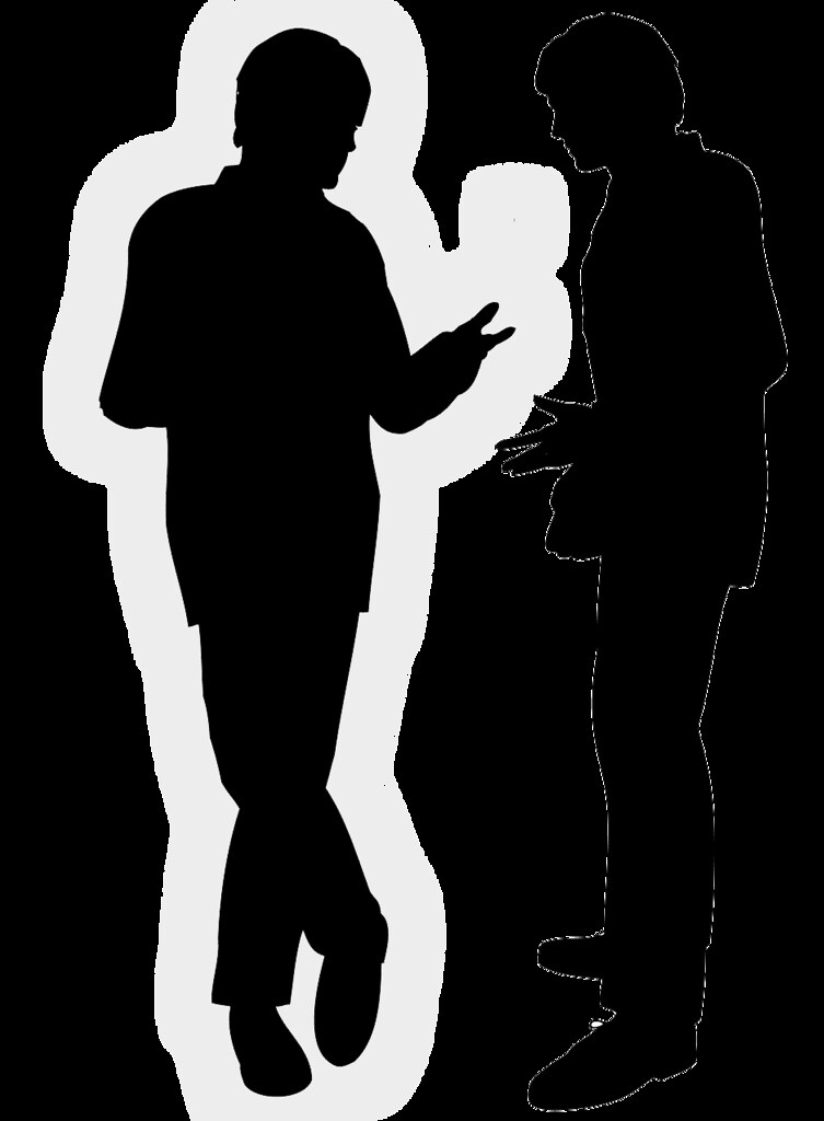 conversation silhouette free to use  please attribute Listening Clip Art 2 People Talking
