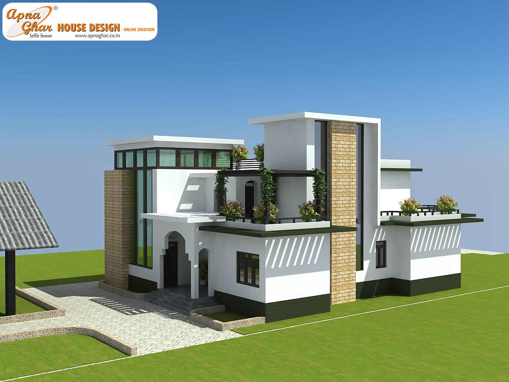 Modern Duplex House Design Modern Duplex House Design in