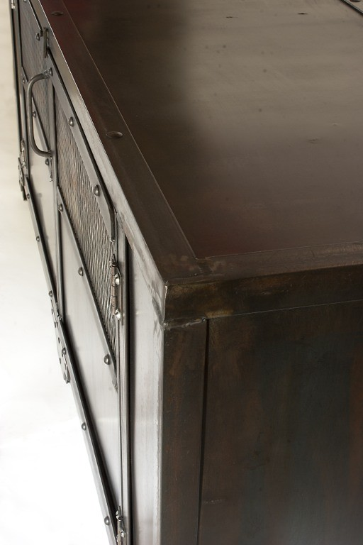 ... Custom Industrial Media Cabinet, TV Stand, Console Table, Accent Table,  Antique Rust