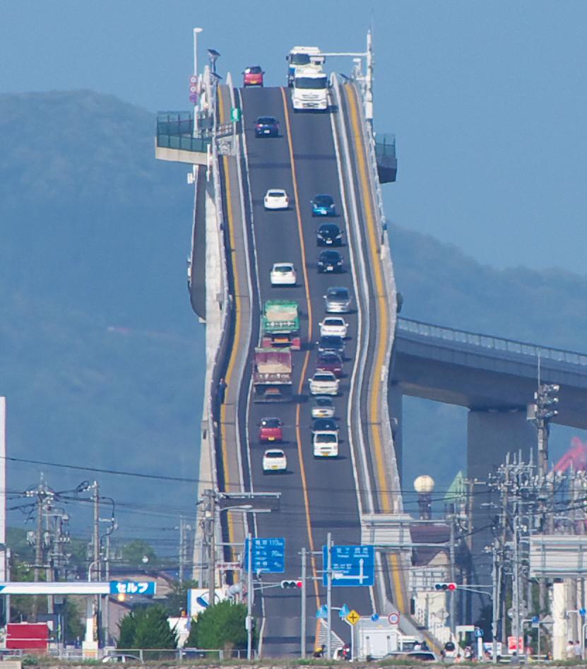 Eshima Ohashi bridge looks like a rollercoaster