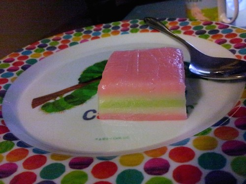 Layer cake kueh from the Perth International Vegetarian and Vegan Food Fair 2014. | by cseneque