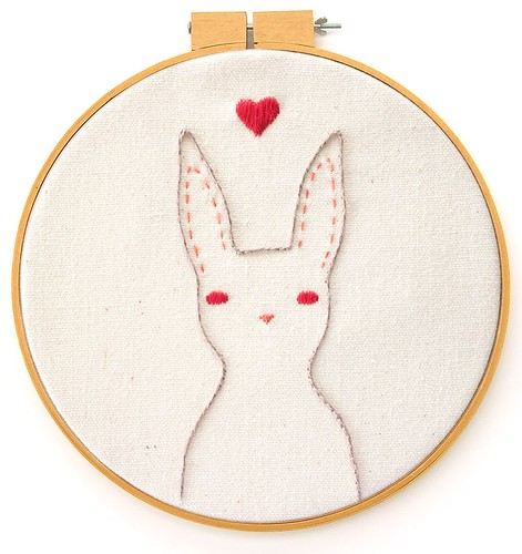 Rabbit Embroidery Pattern | by Bee's Knees Industries