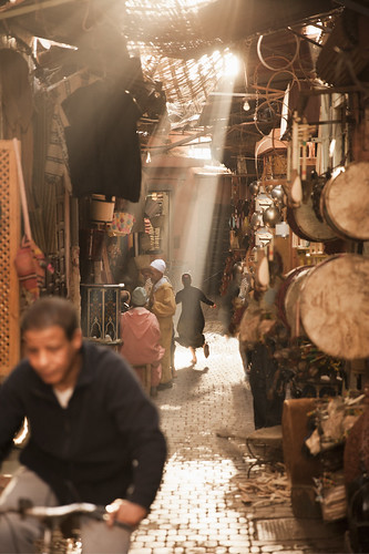 'Chasing Light', Morocco, Marrakech, Medina | by WanderingtheWorld (www.ChrisFord.com)