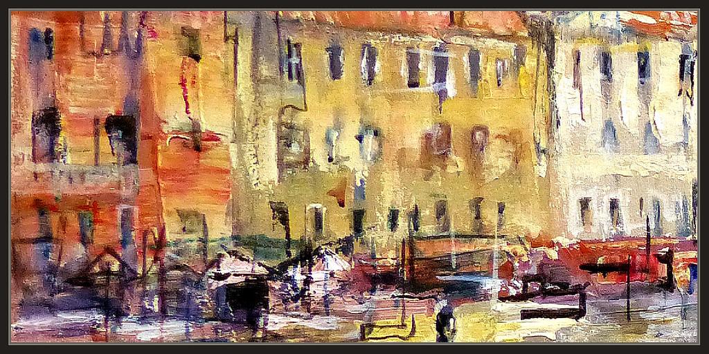 Venecia pintura palacios paisajes italia ciudades historia - Cuadros para pintar en casa ...
