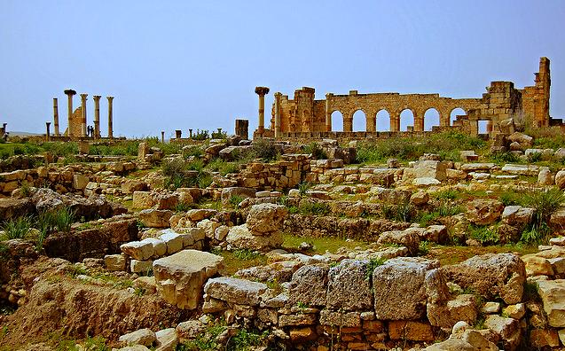 Ruinas de Volubilis en Marruecos