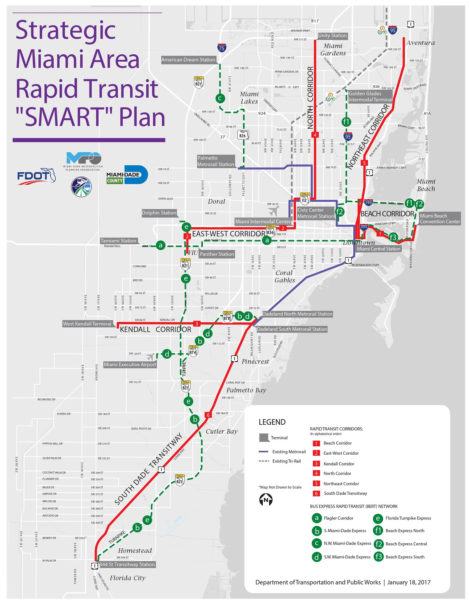 miami-dade transit smart plan for firmed up