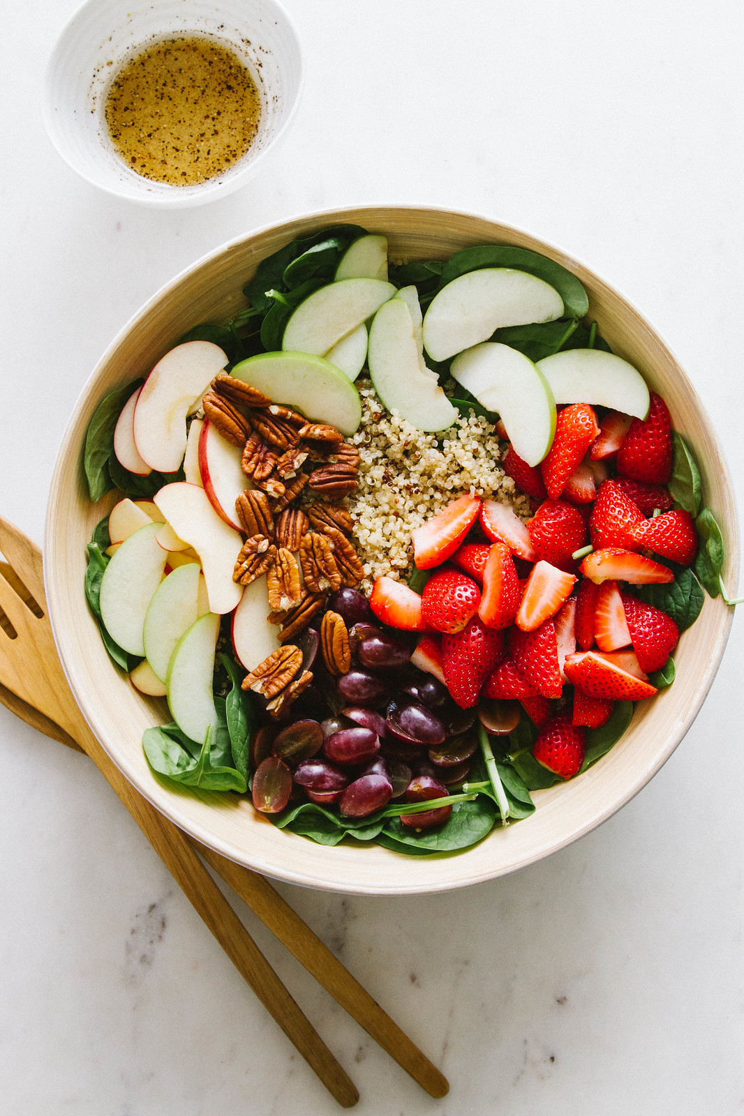 STRAWBERRY, APPLE, QUINOA SPINACH SALAD