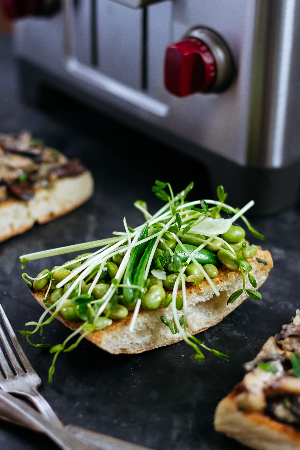 Mushroom Toast with Buttermilk Crème Fraîche