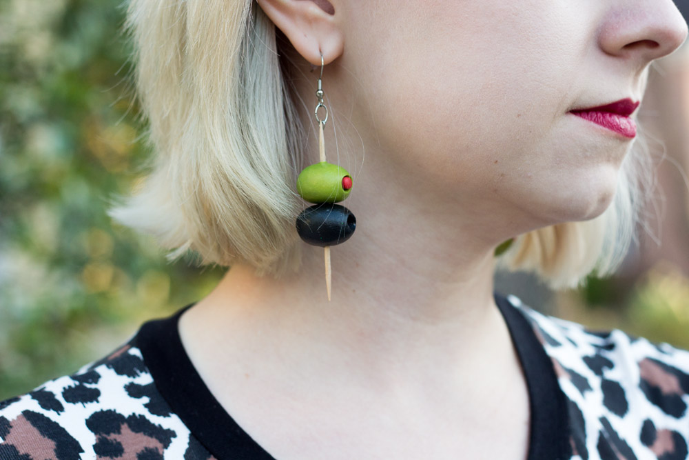 Olive Earrings from IncredInedible on Etsy