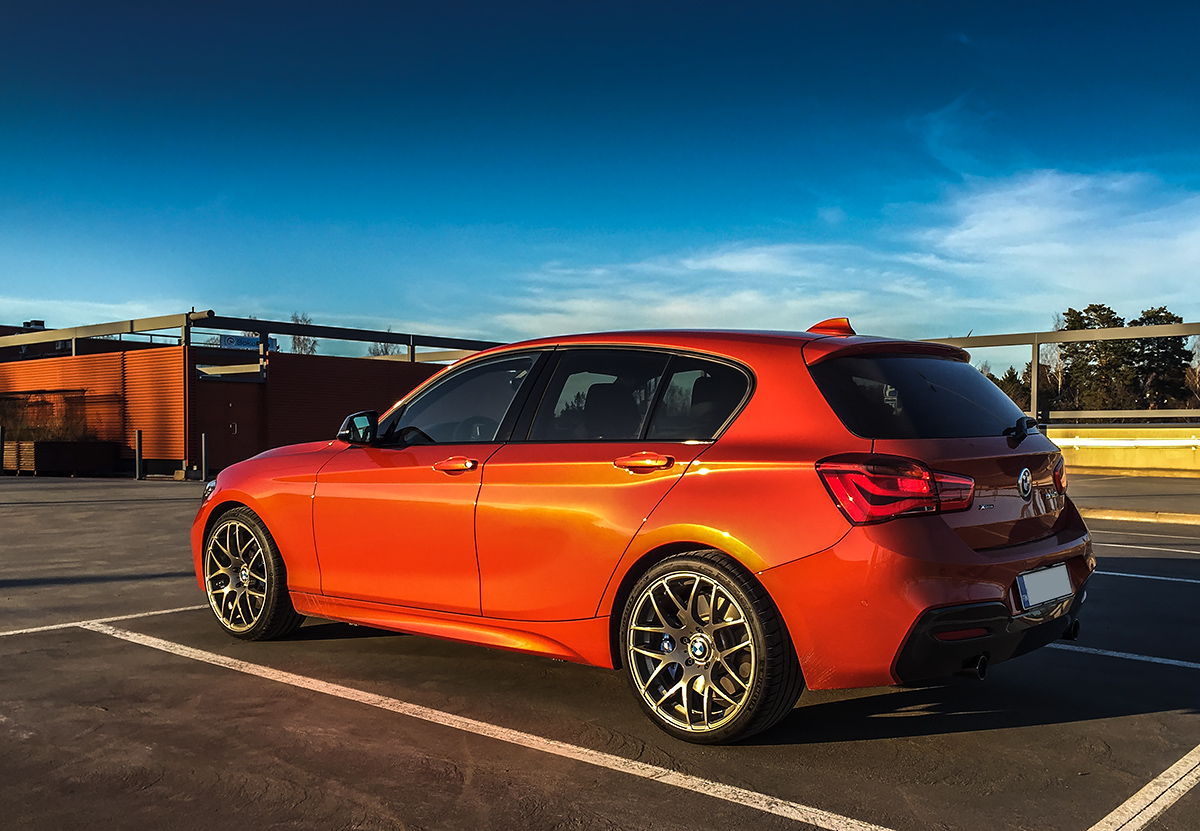 bmw m140i xdrive valencia orange 2017. Black Bedroom Furniture Sets. Home Design Ideas