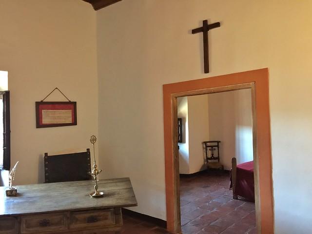 Celda de Quevedo en el monasterio de Santo Domingo en Villanueva de los Infantes