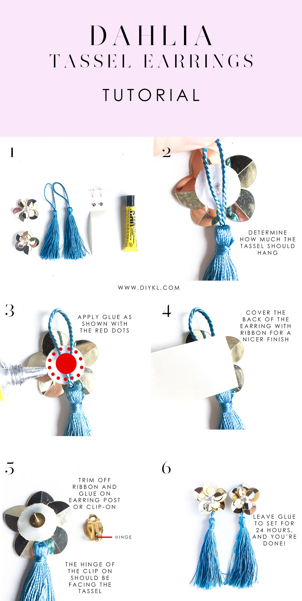 DIYKL DAHLIA Hypoallergenic Tassel Earrings tutorial