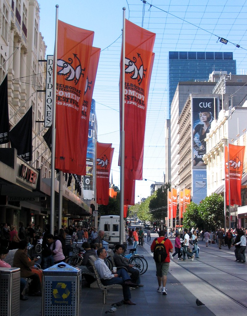 Bourke Street Mall, Melbourne, April 2007