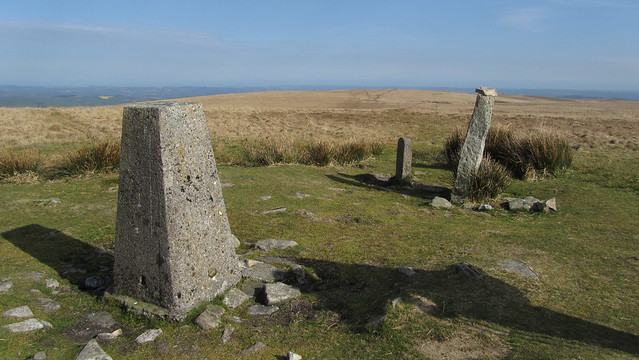 Ryder's Hill trig and Petre's Bound Stone