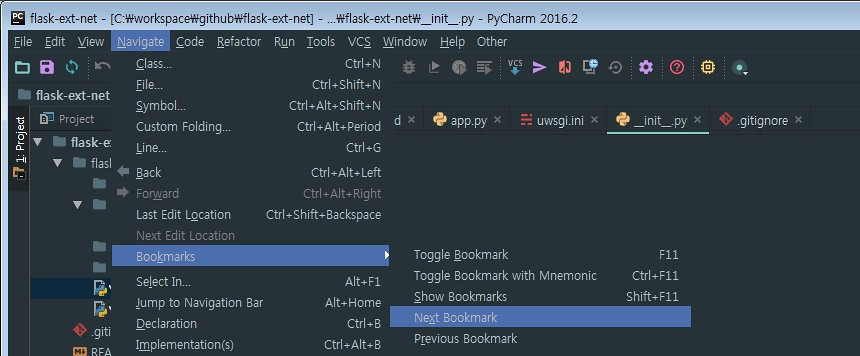 pycharm-bookmark