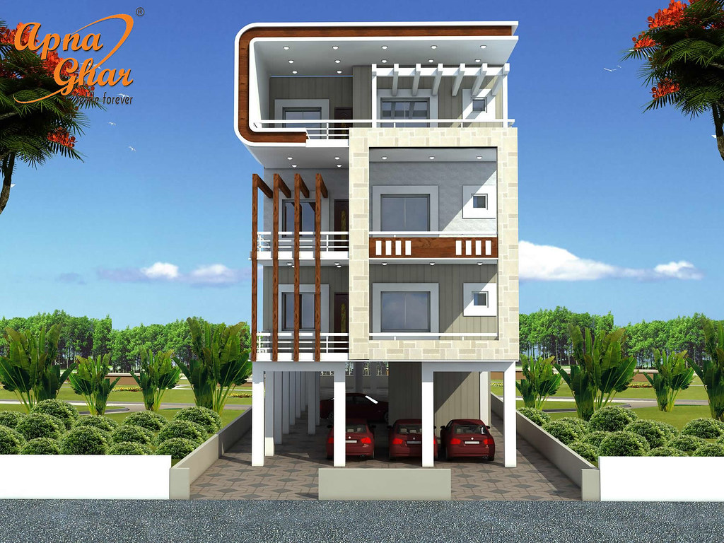 Ghar Ground Floor Elevation : Independent floor design in