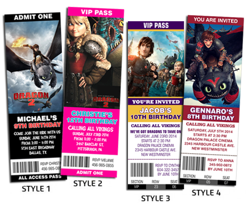 How To Train Your Dragon New Ticket Style Custom Birthday Flickr