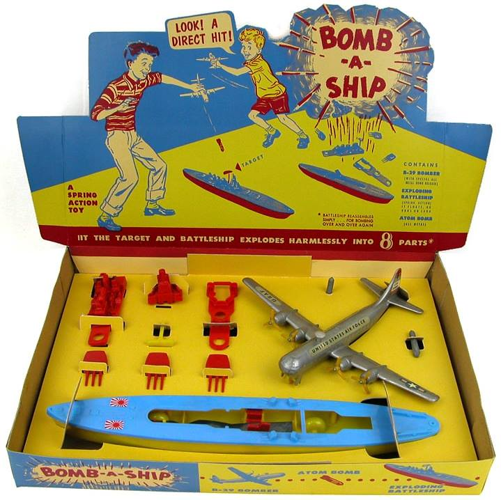 Toys From 1953 : Thomas toys bomb a ship play set toy b bomber