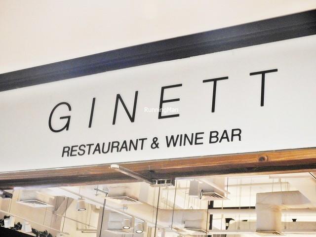 Ginett Restaurant & Wine Bar Signage