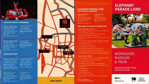 Brochure Elephant Parade Land Chiang Mai Thailand 1