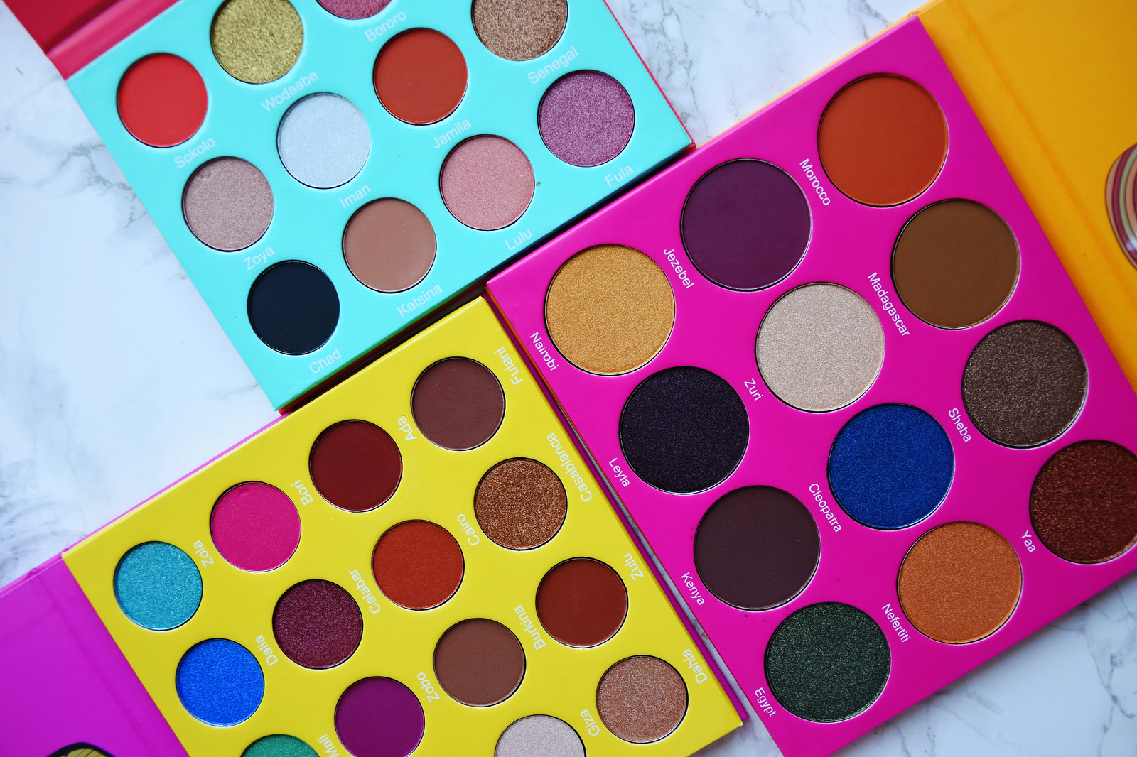 Juvia's Place eye shadow palettes review