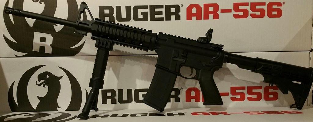 RUGER AR556 quad rail