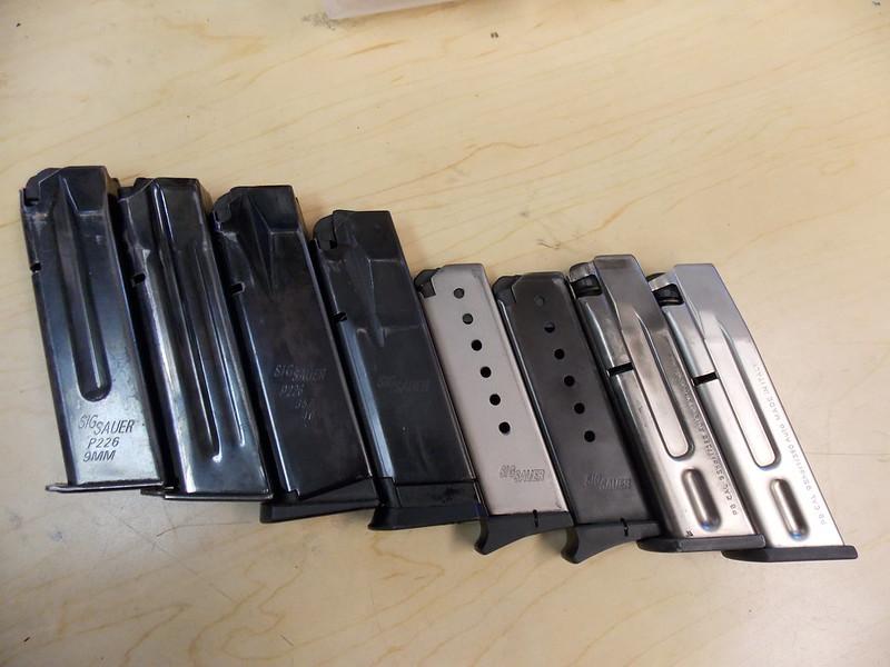 Sig Sauer P220 P226 P229 Beretta slides magazines and parts