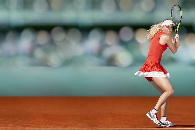 Caroline Wozniacki Roland Garros 2017 outfit