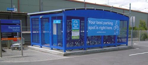 Bayswater Station, Melbourne, Parkiteer Bicycle Parking Cage