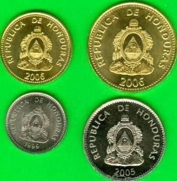 Honduras 5-10-20-50 Centavos 1999-2006 UNC