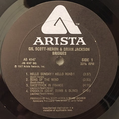 GIL SCOTT-HERON AND BRIAN JACKSON:BRIDGES(LABEL SIDE-A)