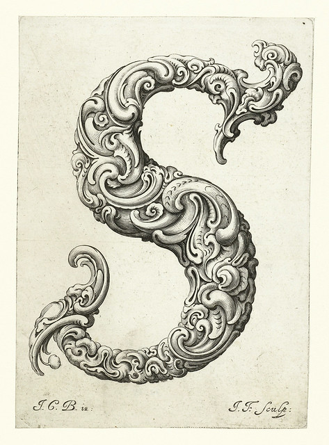 019-Letra S-Libellus Novus Elementorum Latinorum -J. C. Bierpfaff-  Rijksmuseum