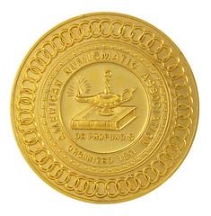 K-F lot 82 V. Leon Belt gold ANA President's medal
