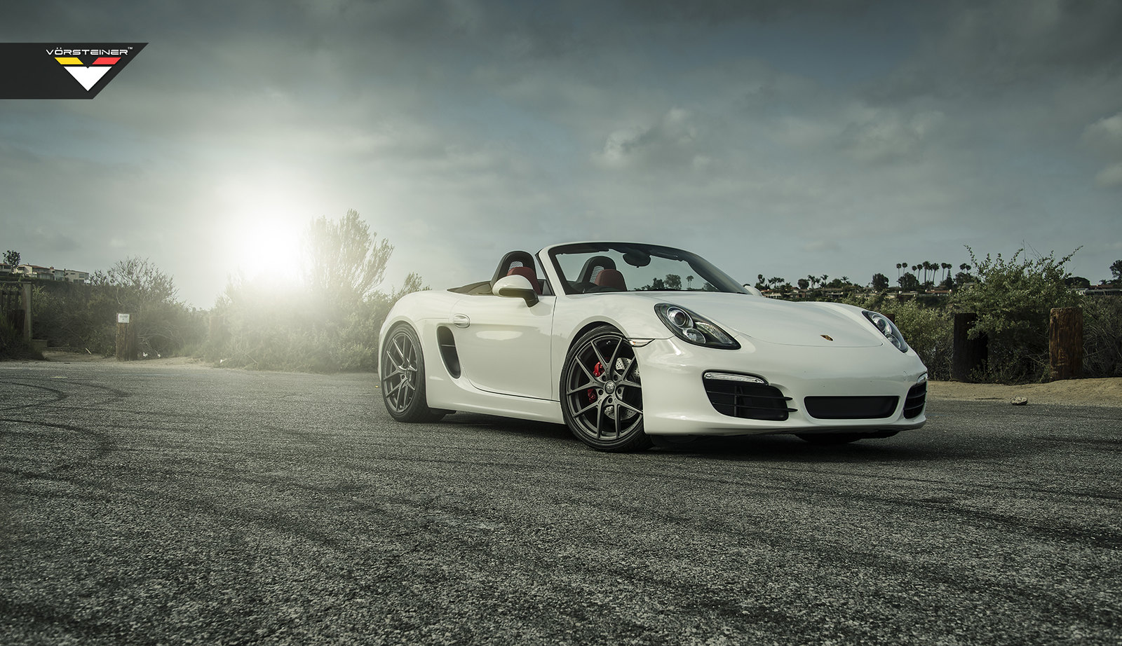 Porsche boxter s on vorsteiner v ff 101 in textured gunmetal