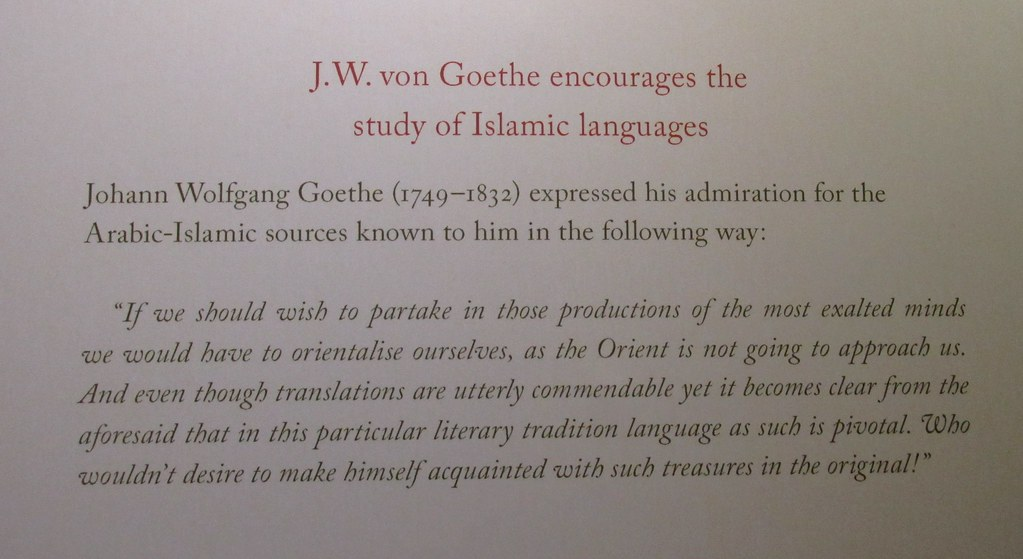 Goethe on islamic languages if we should wish to partake flickr goethe on islamic languages by brewbooks publicscrutiny Image collections