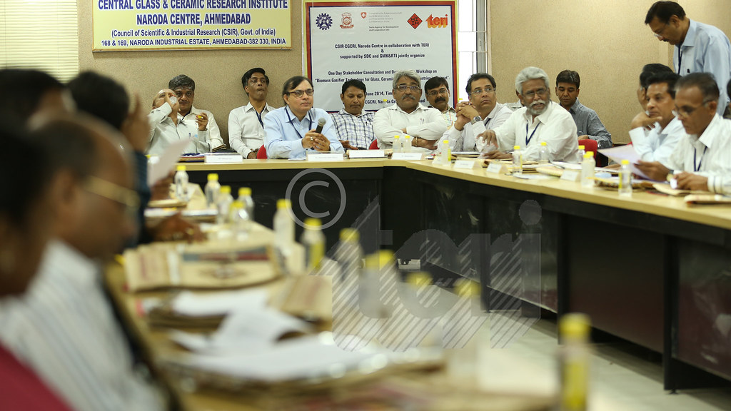 Q & A session in progress during the Workshop on �Biomass Gasifier Technology for Glass, Ceramic and Pottery industries in Gujarat�