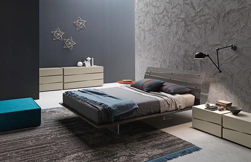 Presotto letti il letto in legno tango wood completo for Valentini arredamenti