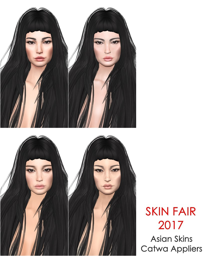 Asian Skins at Skin Fair 2017 (Catwa Appliers)