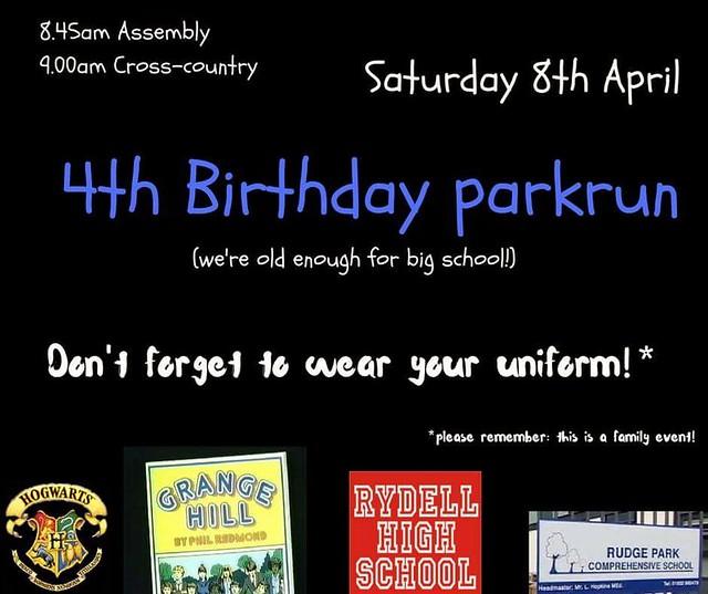 Huntingdon parkrun's 4th birthday celebrations