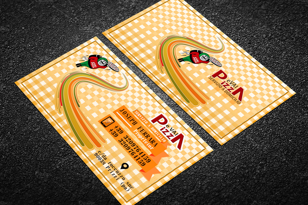 Pizza e vai Business Card | We realize Custom Business Cards… | Flickr