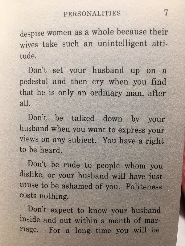 guide for wives,  1913