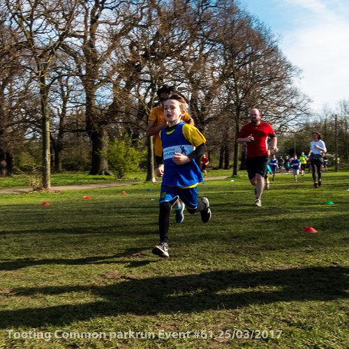 Tooting Common parkrun event #61 25/03/2017