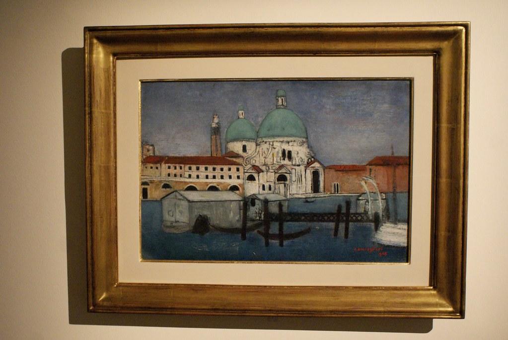 """Cesare Brevegliari """"Chiesa della Salute a Venezia"""" (1946). Palazzo Fava de Bologne"""